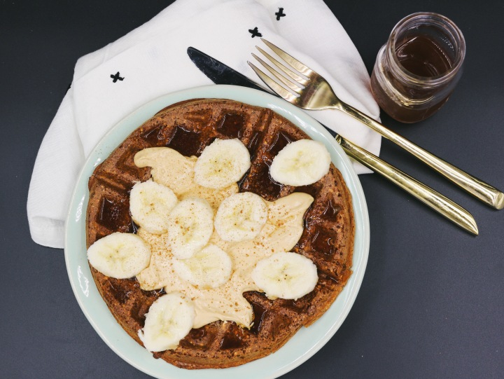 Snickerdoodle Protein Waffles