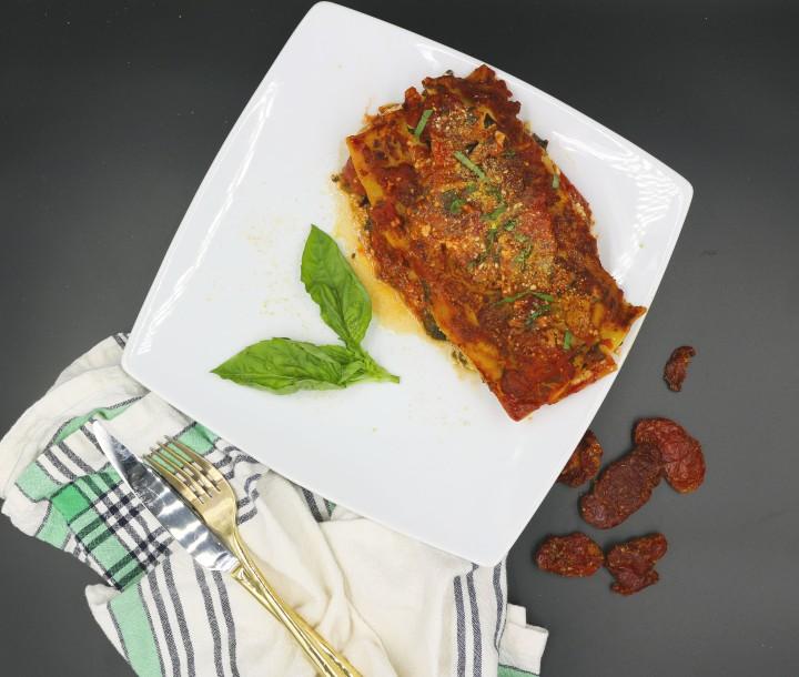 final lasagna overhead